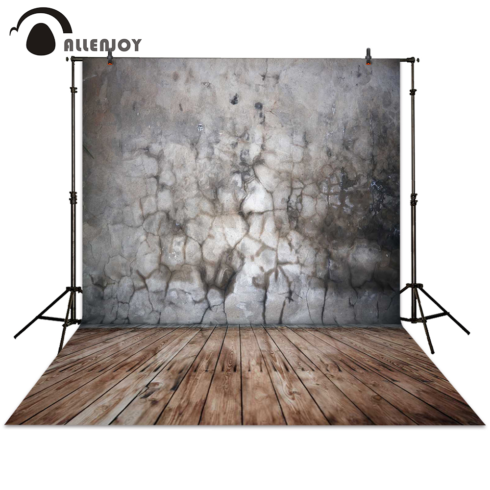 Allenjoy photography backdrop brick wall crack wood board grey background photocall photographic photo studio allenjoy diy wedding photography background romantic love wood board custom name date phrase backdrop photocall
