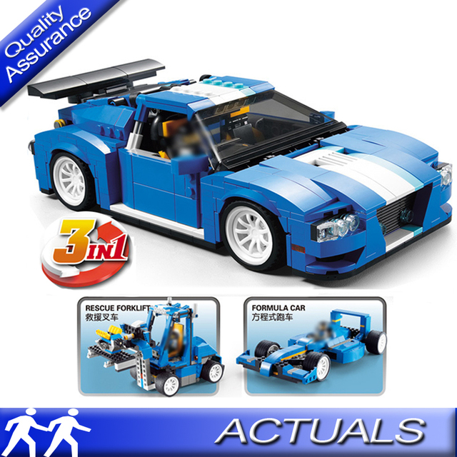 3 In 1 Decool 3119 Compatible With Lego 31070 Creator Turbo Track
