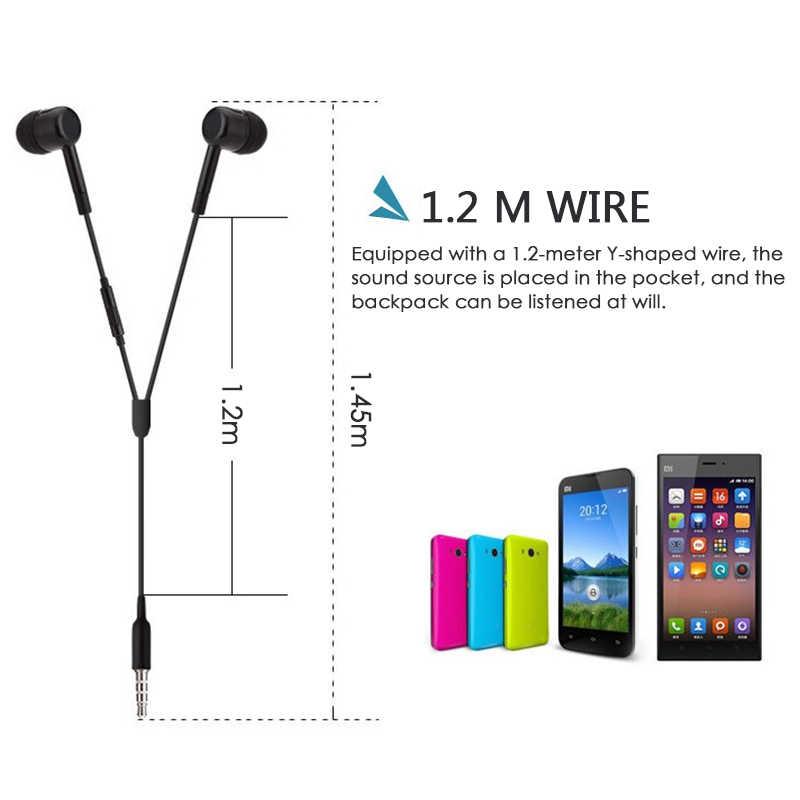 Słuchawki przewodowe douszne 3.5mm w ucho słuchawki douszne słuchawka z mikrofonem Stereo zestaw słuchawkowy 5 kolor dla Samsung Xiaomi telefon komputer