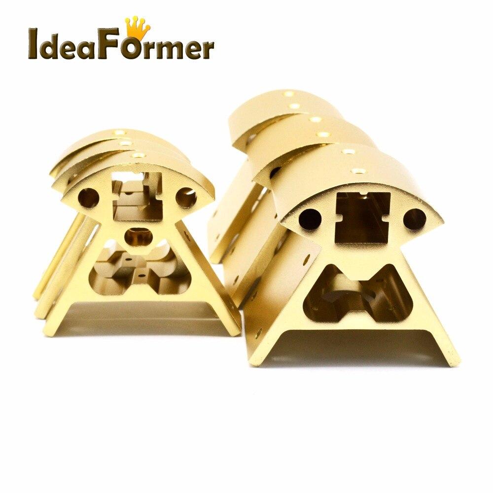 1 set Corners 3D printer parts  Frame Reprap All metal Delta 3  small Top 3 big bottom 2020 Aluminum profile Vertex Kossel3D Printer  Parts