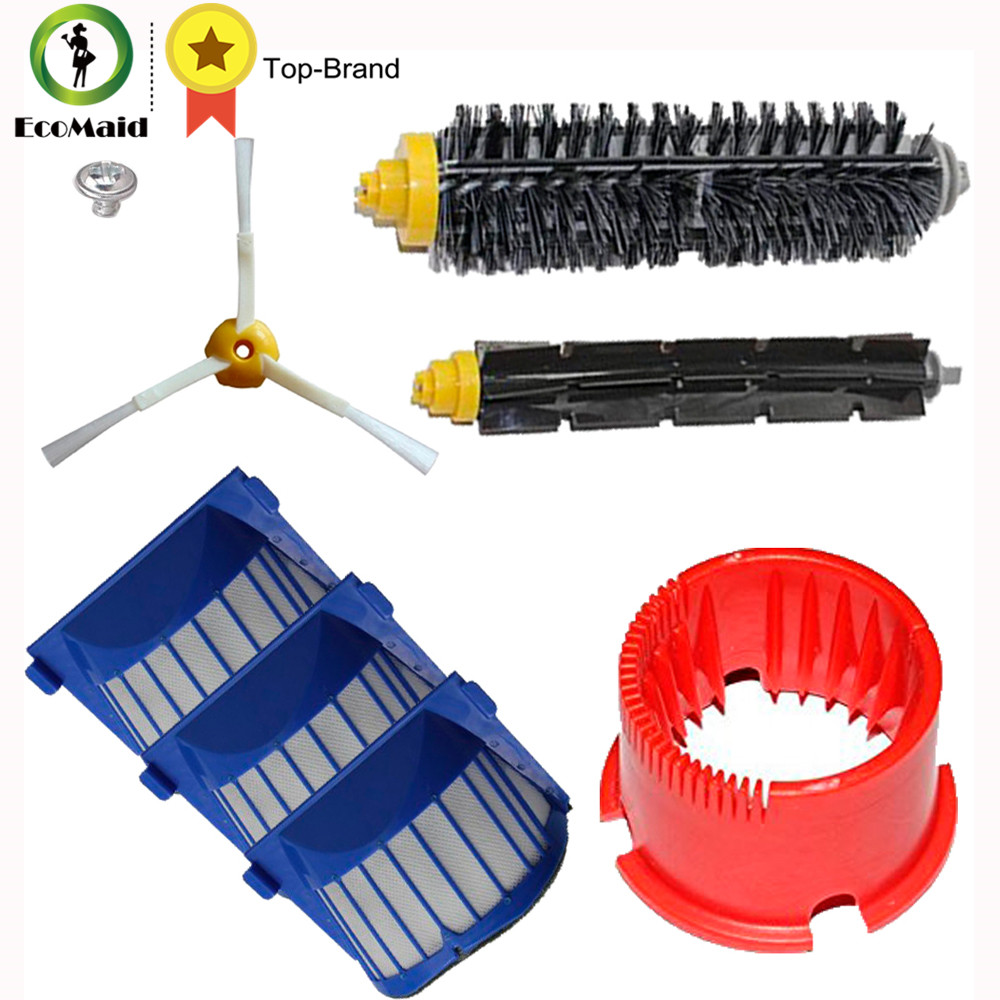 Replacement Kit For iRobot Roomba 600 Series 620 630 650 660 Vacuum Cleaner Parts Brushes Filters Clean Tool bristle brush flexible beater brush fit for irobot roomba 500 600 700 series 550 650 660 760 770 780 790 vacuum cleaner parts