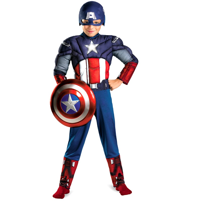 100% Quality Halloween Costume For Kids Girls Animal Boys Carneval Captain America Captain America Costume Child Onesie Female Costume