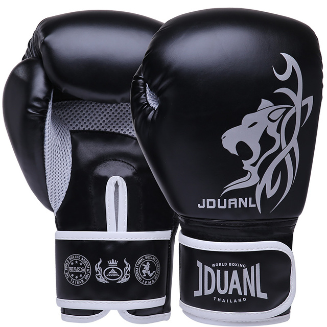 JDUanL 1 Pair Leopard Kids Adults Women/Men Boxing Gloves MMA Muay Thai Sparring Mitts Martial Arts Wushu Sanda Gear DEO