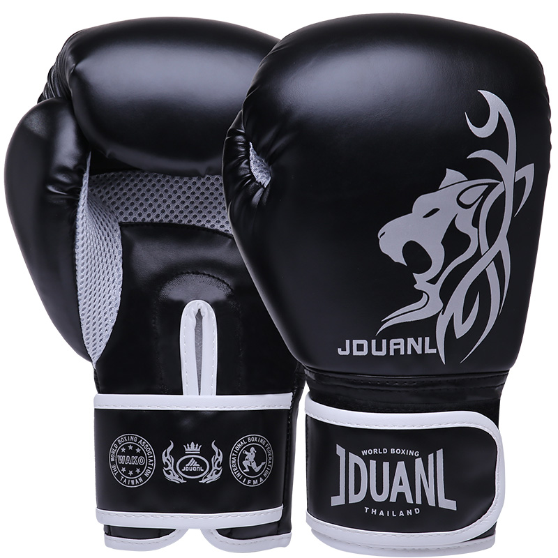 JDUanL 1 paia Leopard Bambini Adulti Donne/Uomini Guantoni Da Boxe MMA Muay Thai Sparring Guanti di Arti Marziali Wushu Sanda gear DEO