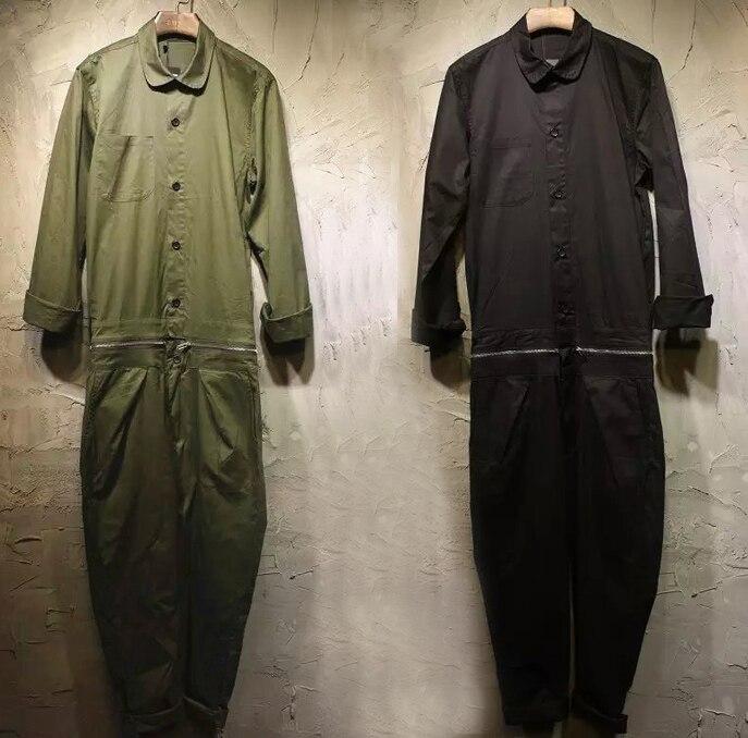 2016 spring autumn winter For Men plus size jumpsuits korean jeans fashion denim work clothes pants