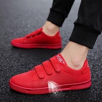 e39b2be0 2018 nueva llegada de moda de la marca de ropa Casual fácil zapatos de los  hombres zapatillas de deporte transpirables Calzado Hombre de jóvenes  adultos ...