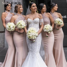 SuperKimJo Lace Applique Bridesmaid Dresses 2019 Mermaid Long Elegant Custom Wedding Party Dress Vestido De Madrinha