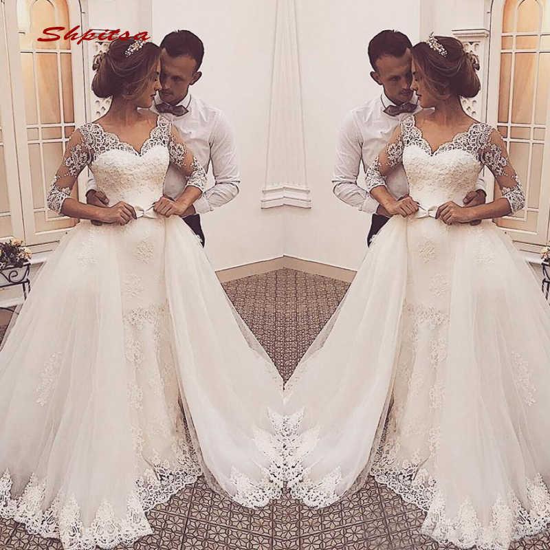 2 In 1 Lace Wedding Dresses Long Sleeve Turkey Tulle Plus Size Bride Bridal Weding Weeding Dresses Wedding Gowns Aliexpress,Wedding Short Royal Blue Bridesmaid Dresses