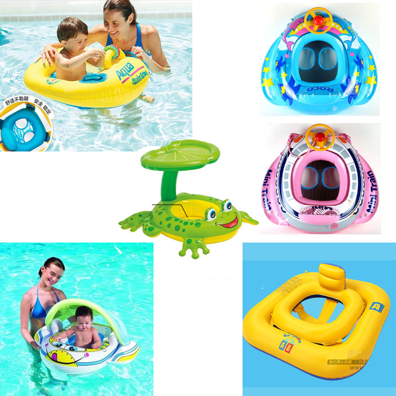 2018 Inflatable Boat Baby Float Inflatable Toys for Swimming Child Water Supplies Multicolour Ring Seat Boat Swim Swimming Toys