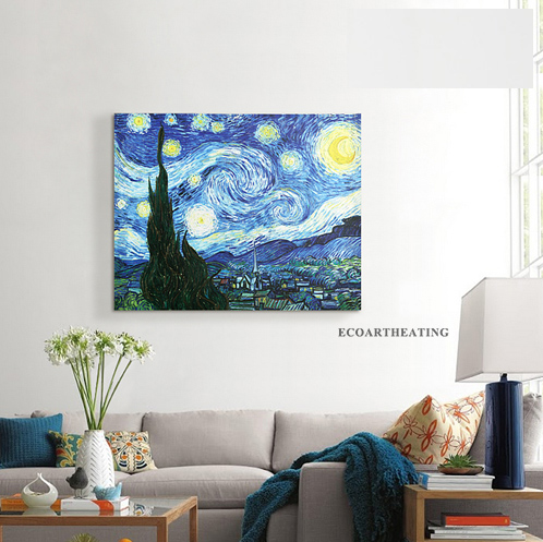 360w Frameless Infrared Heater Panel Customer Design Oil Painting Yoga Studio Infrared Radiator special design frameless paintings reflection print