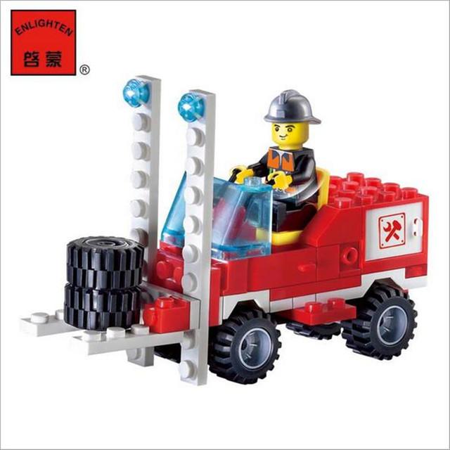 130pcs/set Fire Fighting Truck DIY Building Blocks Toy