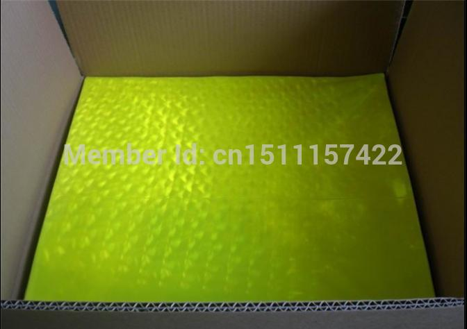 Fluorescent yellow no patten Reflective Warning PVC material reflective prismatic slice reflective PVC slice 46cm*48cm*20C