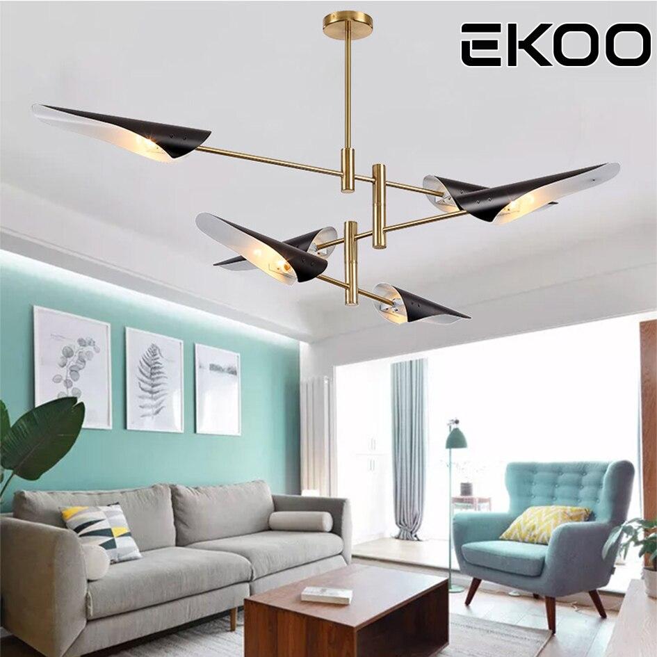 EKOO modern E26/27 LED art plane chandelier living Room Lobby Ambient Home Light