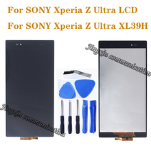 6.44 SONY Xperia Z Ultra için LCD dokunmatik ekran digitizer Için Orijinal Ekran SONY Xperia Z Ultra XL39H C6833 LCD onarım parçaları