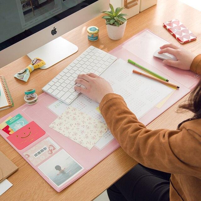 Корея каваи 6 конфеты Цвета Многофункциональный Подставки для ручек стол pad еженедельник хранения memo Коврики обучения pad офис Коврики