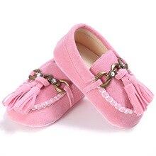 E& Bainel/Мокасины с бахромой для малышей; тапочки с кисточками; мокасины для малышей; обувь для новорожденных; обувь для детей из искусственной кожи; ботинки для малышей
