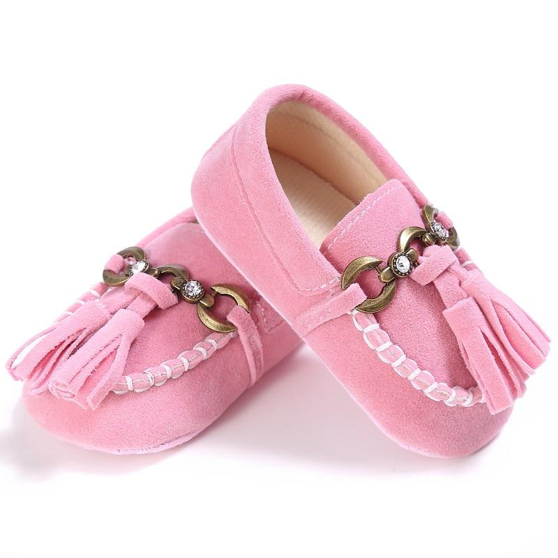 E & Bainel кисточкой Детские Мокасины Тапочки Ленточки детские мокасины новорожденных детская обувь для детей из искусственной кожи Prewalkers пине...