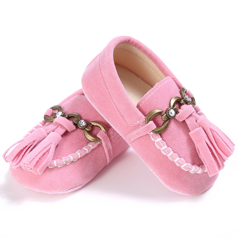 E&Bainel Tassel Baby Moccasins Slippers Tassels Baby Mocassins Newborn Baby Shoes For Kids Pu Leather Prewalkers Booties