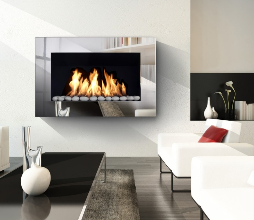 Inno Living Fire 36 Inch 90cm Zwave Smart Home Control  Bioethanol  Fireplace