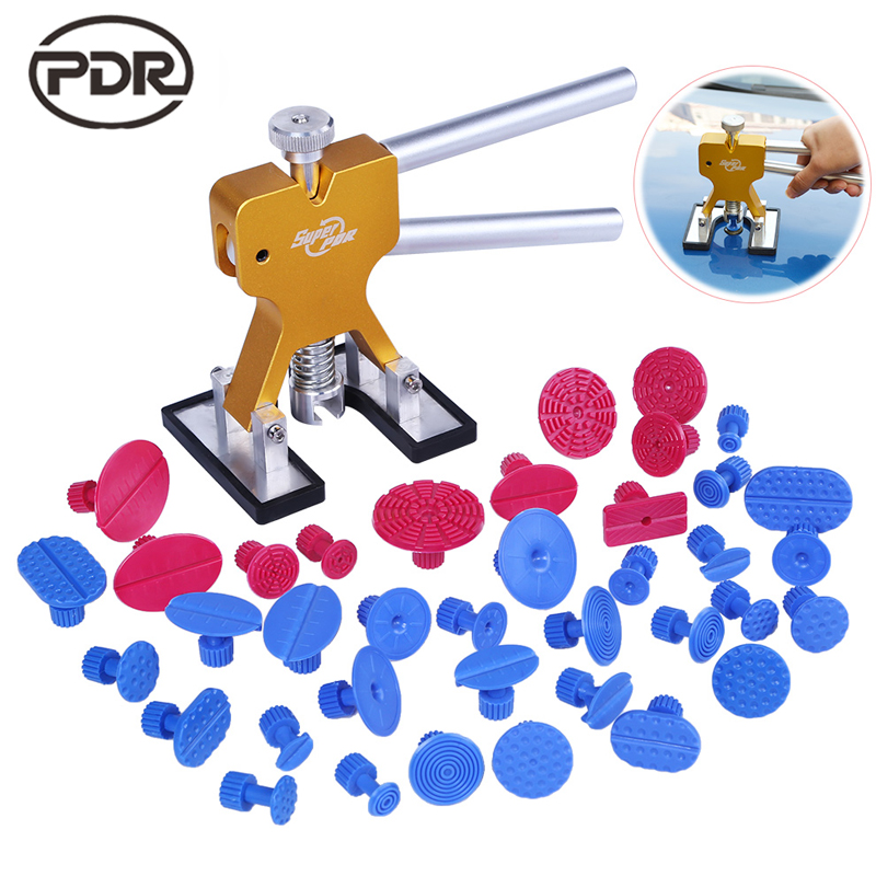 PDR Tools For Car Kit Dent Lifter Dent Puller Glue Tabs Suckers Suction Cup Fungi Dent Removal Tools Hand Tools Set 40 pcs/set  pdr tools for car kit dent lifter glue tabs suction cup hot melt glue sticks paintless dent repair tools hand tools set