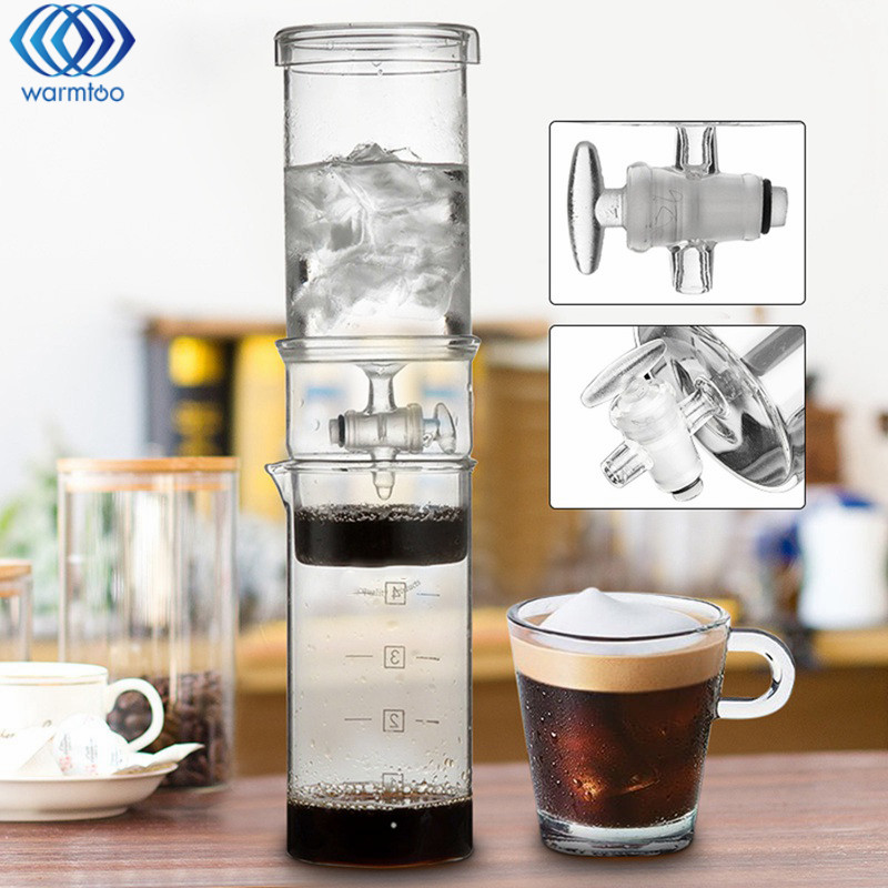 Cold Drip Coffee Home 400ML Classic Cold Brew Coffee Lced Coffee Maker Dutch Ice Coffee Maker High Quality eyki h5018 high quality leak proof bottle w filter strap gray 400ml