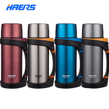 Marke haers 1500 ml isolierflasche double wall edelstahl thermos mit tragbaren handgriff