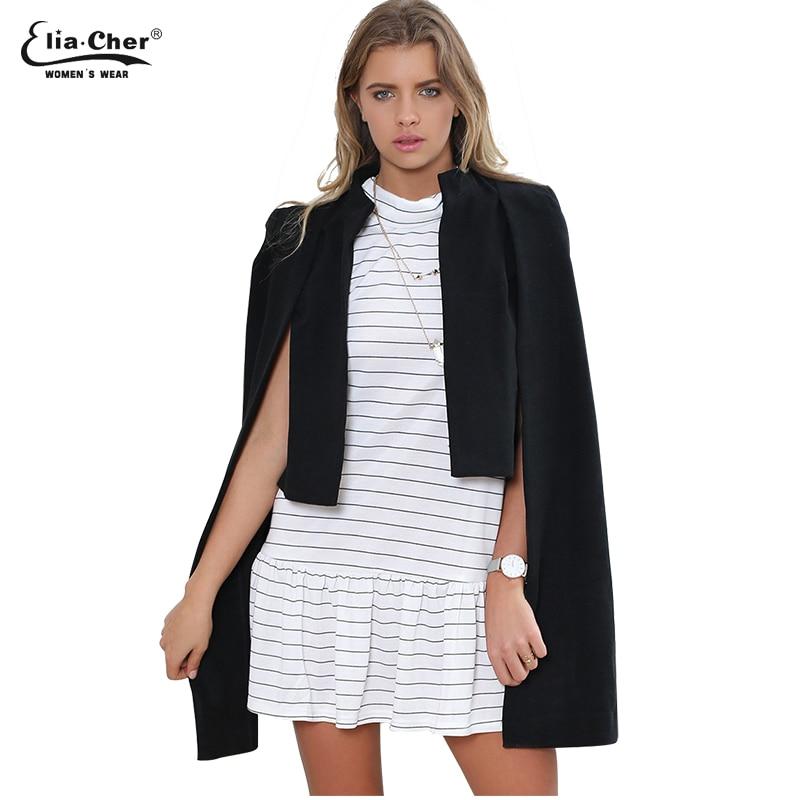 Eliacher Brand Chic Elegante Abrigo de lana para mujer Mezclas de - Ropa de mujer - foto 5