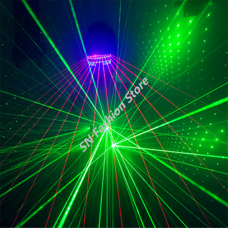 T826 Green color Laser Costumes laser light font b clothing b font club bar party dance