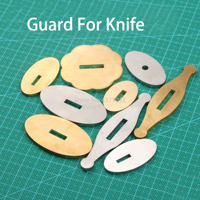9 Size Guard For Knife Brass / Stainless Steel Guard Design DIY Knife Handle Guard