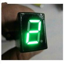 Waterprof Универсальный 5 скоростей цифровой индикатор передач Мотоцикл Мотокросс дисплей рычаг переключения передач датчики передач дисплей зеленый