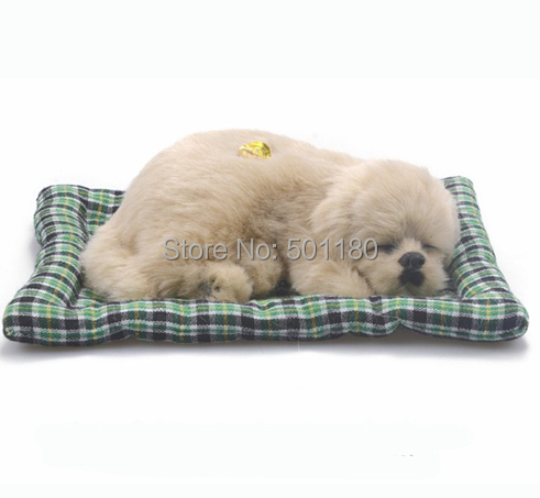 free shipping handmade sleeping animal dog toy with bark for furniture decoration