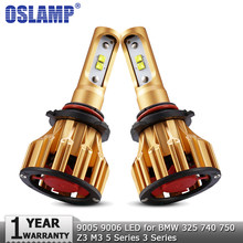 Oslamp 9005 HB3 9006 HB4 Hi lo Beam LED Headlight Bulbs 70W 7000LM Auto Headlamp 12v for BMW 325 740 750 Z3 M3 5 Series 3 Series(China)