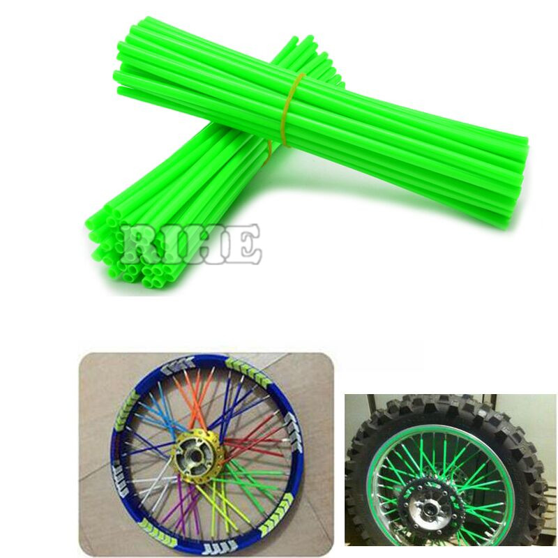Universal Moto Dirt Bike Enduro off Road Wheel RIM Spoke Shrouds SKins covers for KAWASAKI 500 KX 450 KLX250 KLX450R KLR650