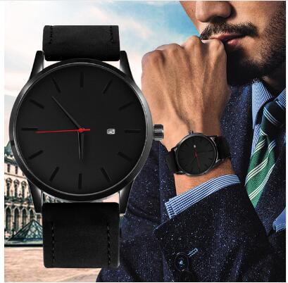 2019 Top Brand Luxury Men's Watch Fashion Male Watch For Men Military  Watches Men Sport Watches Leather Casual часы мужские