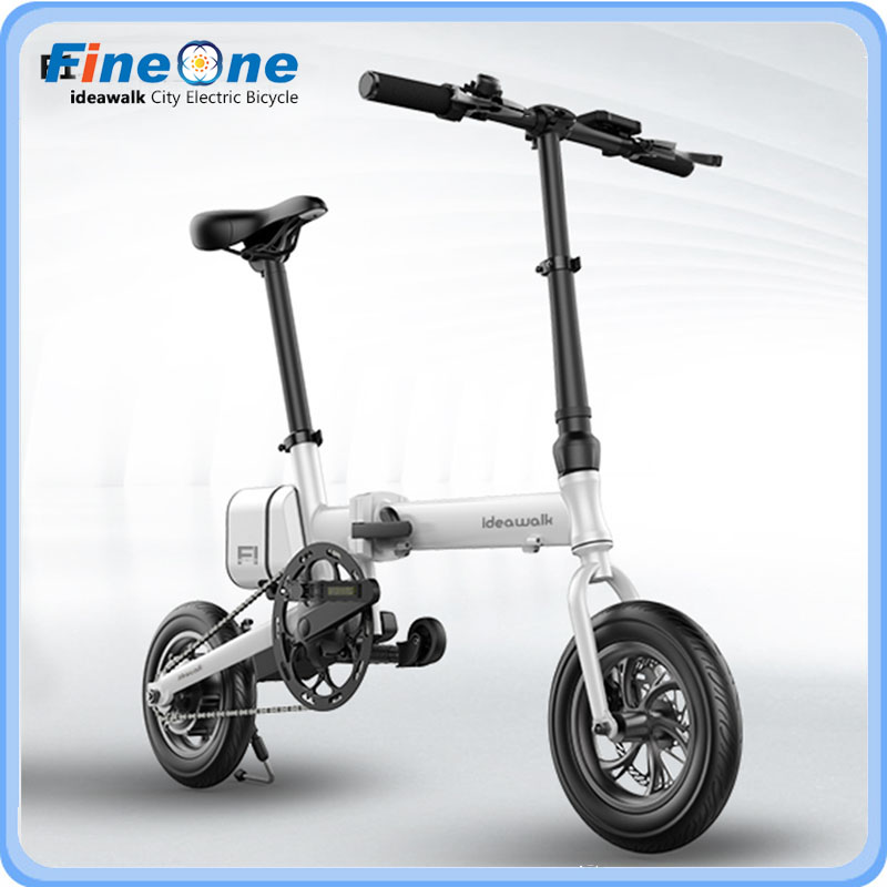 2017 12 Inch Idealwalk F1 Electric Bicycle Green Energy E-Bike Scooter Folding Powerful Electric Bike With Pedal and Battery
