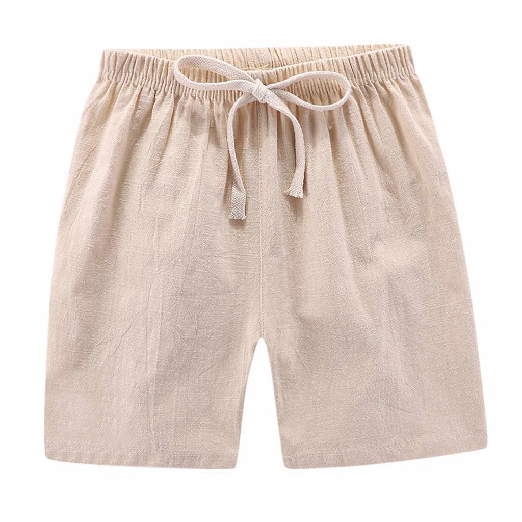 2019 Zomer Baby kleding school broek voor meisjes jongens Kid Jongen Meisje Linnen Casual Lange Elastische Taille Broek Kleding voor kinderen