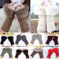2017 Fashion Style Ladies Knitted Fingerless Winter Thermal Warm Hand Warmer Faux Rabbit Fur Mittens Luvas Women Gloves 10 Color