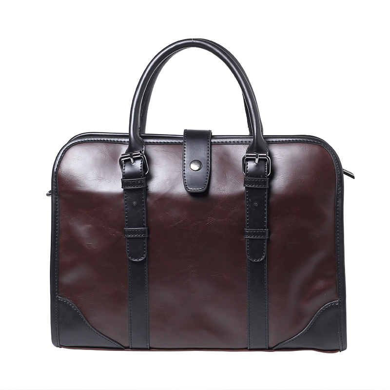 New Korean Men's Handbag Business Fashion Shoulder Bag Briefcase Retro Diagonal Cross Office Briefcase