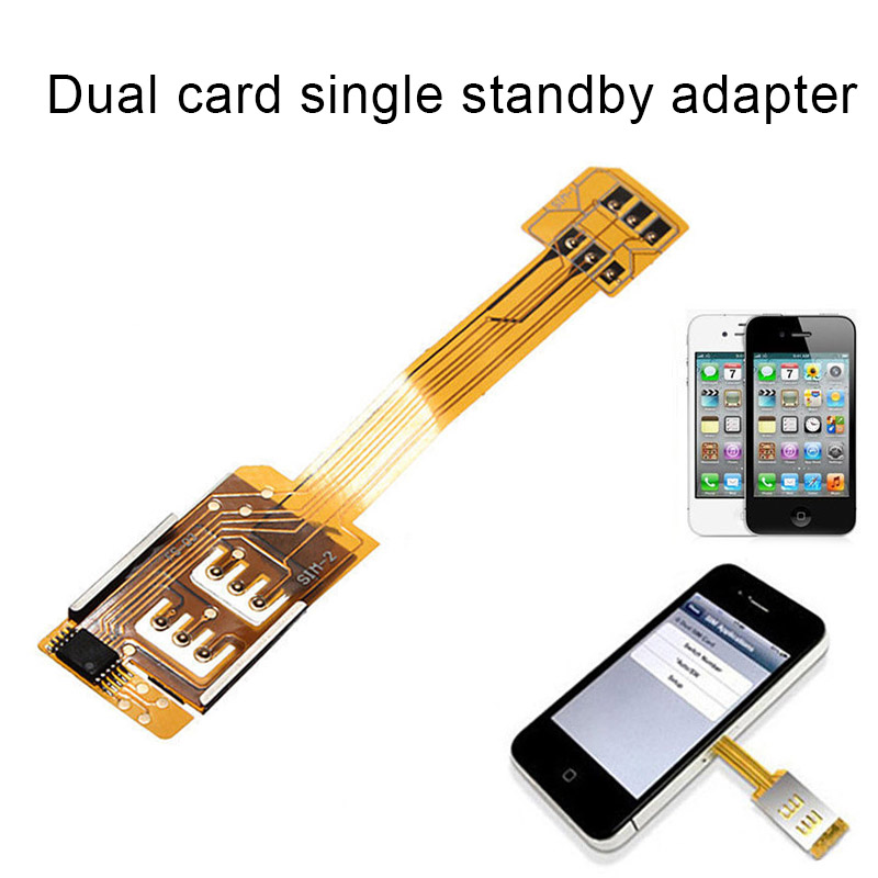 Etmakit Dual <font><b>Sim</b></font> <font><b>Card</b></font> Double <font><b>Adapter</b></font> Converter Compatible Mobile Phone iPhone <font><b>Samsung</b></font> NK-Shopping image