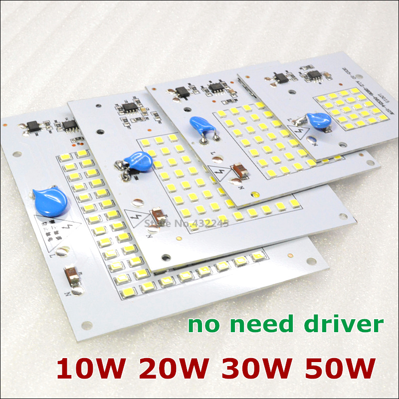 220V directly 10W 20W 30W 50W 90W Integrated IC LED PCB smd 2835 Aluminum Base Plate no need driver. free shipping 100 pieces.