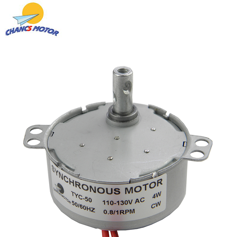 CHANCS TYC-50 Low Speed Small Synchronous Electric <font><b>Motor</b></font> <font><b>110V</b></font> AC 0.8/1 RPM CW For Hand-made image