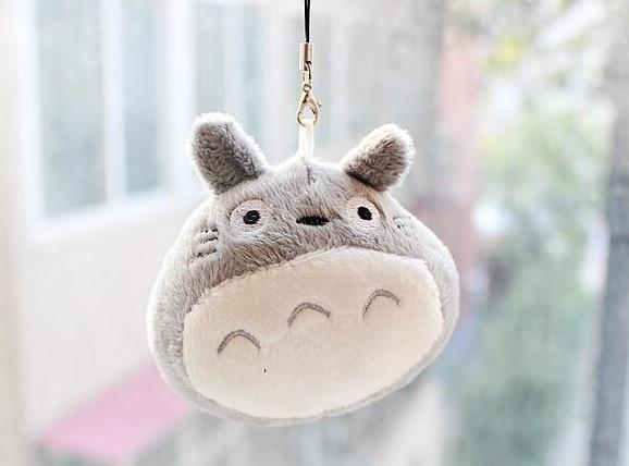 Kawaii Cute MY Neighbor Totoro 8CM Plush Stuffed Toy Phone Strap Doll Gift Toy Bag Pendant Toy Gift Doll