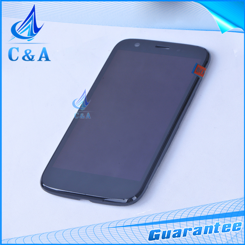 10 pcs free shipping replacement for motorola MOTO G XT1032 XT1033 lcd screen display with touch digitizer and frame assembly