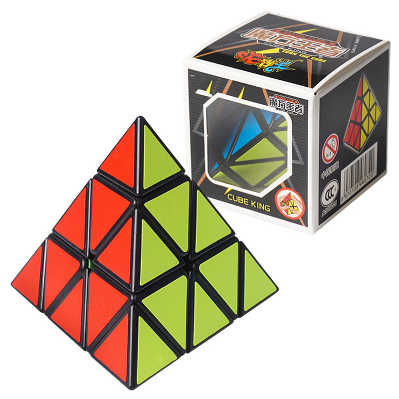 Alien Third-order Magic Cube Children's Puzzle-Shaped Triangle Cubes Rubiks Cube 3X3 Puzzle Educational Toys for Children GF91 8pcs set shengshou s magic cubes 3 3 2 2 2x2 3x3 skew sq1 megaminx mastermorphix triangle pyraminx mirror rubix rubic cube