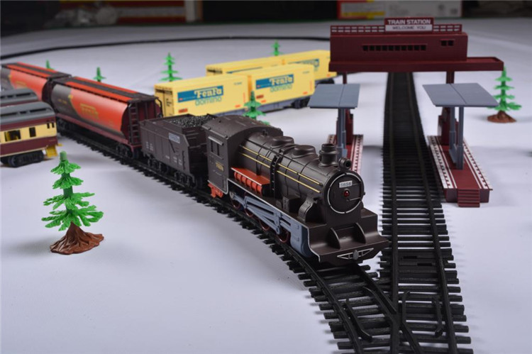 Classic Assembly Retro Steam Train Modern Train Set Electric Railway