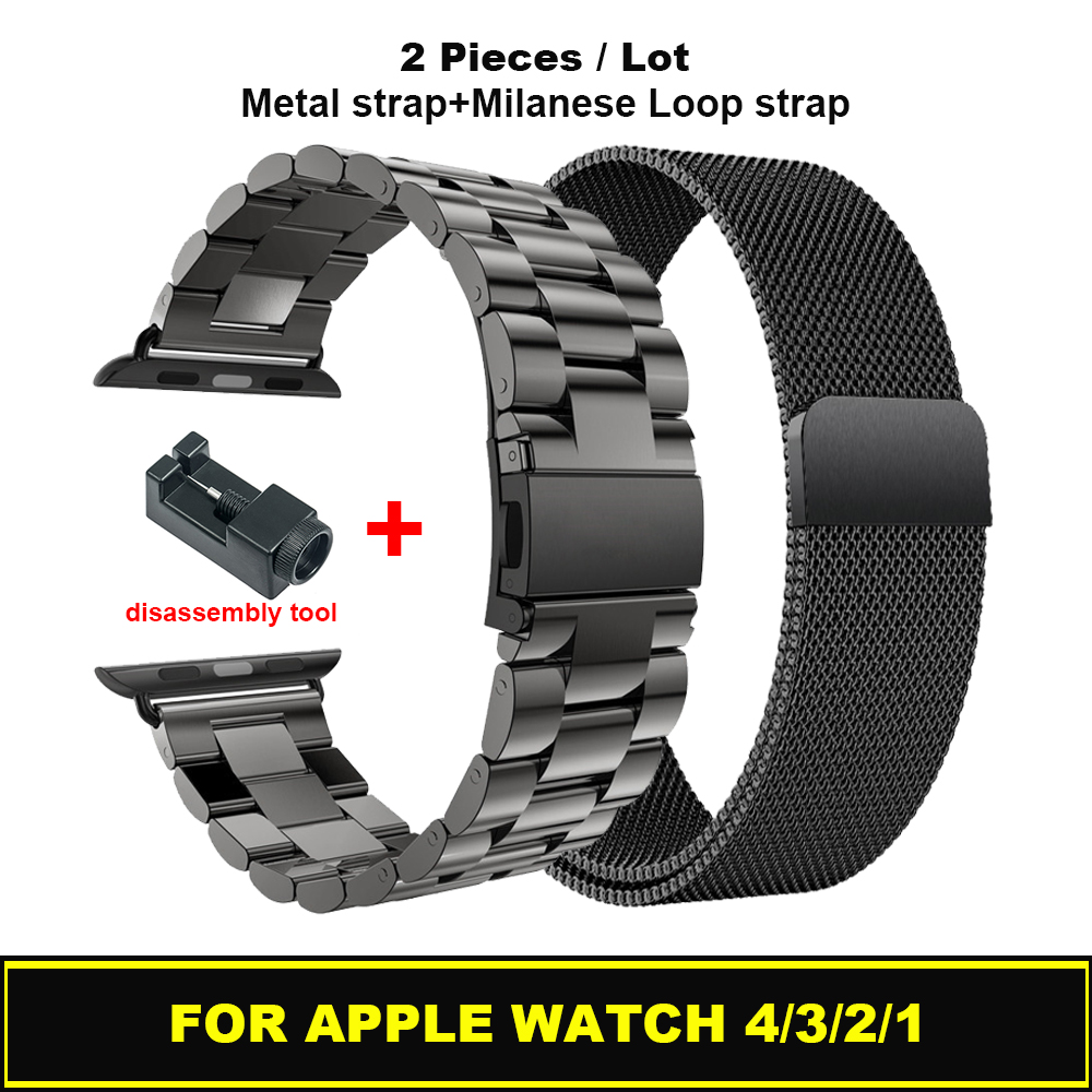 Metal Stainless Steel Milanese Loop Bracelet Band For Apple Watch 44mm 40mm Strap For IWatch Series 4/3/2/1 42mm 38mm Watchband