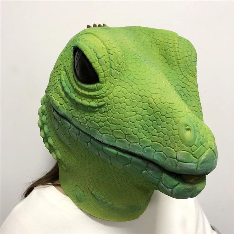 Halloween Mask Artificial Lizard Head Halloween Costume Novelty Mask Masquerade Mask Head Mask