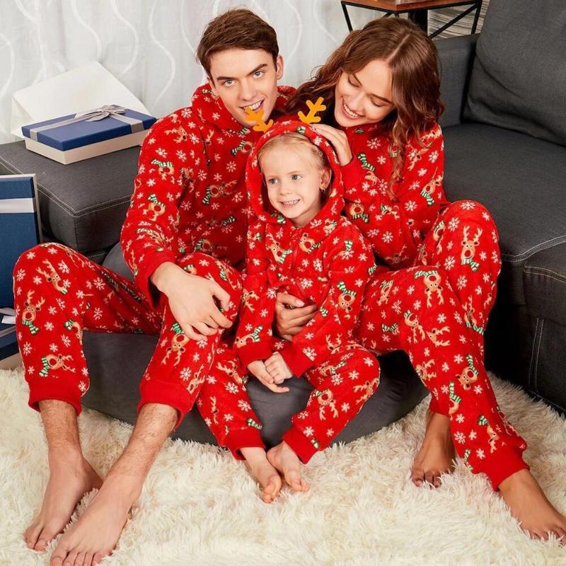חג המולד משפחה סט חם למבוגרים ילדים בנות ילד אמא הלבשת Nightwear אמא בת משפחת התאמת תלבושות