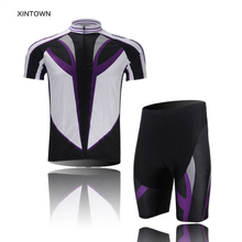 XINTOWN Speed Purple Cycling Sports Jersey Shirt Top Shorts Short Sleeves Bicycle Wear Clothing Ropa Ciclismo