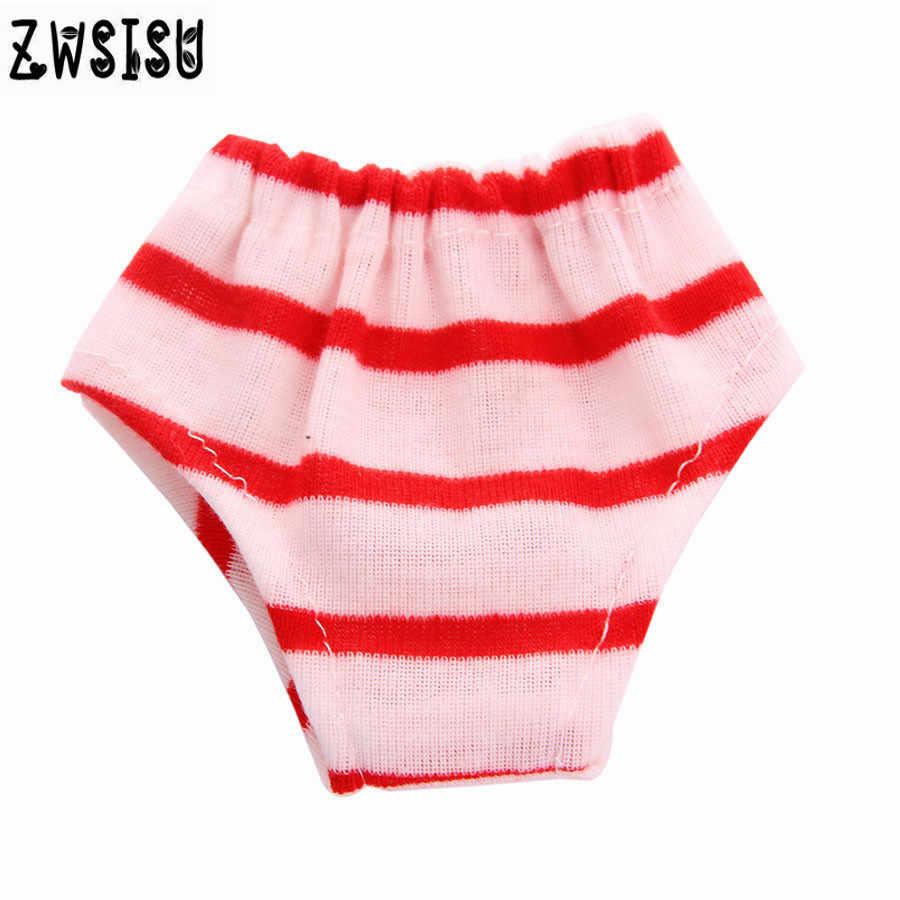 Rot und schwarz gestreiften unterwäsche, geeignet für 18 zoll Amerikanischen puppe, geeignet für 43 cm puppe zu geben das kind die beste b